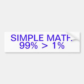 Pegatina para el parachoques simple de la matemáti pegatina para auto