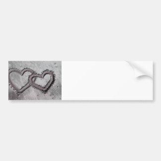 Pegatina para el parachoques sin fin del amor pegatina de parachoque