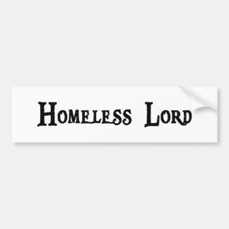 Pegatina para el parachoques sin hogar etiqueta de parachoque
