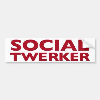 Pegatina para el parachoques social de Twerker Pegatina Para Auto
