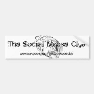 Pegatina para el parachoques social del club de lo pegatina para auto