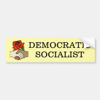 Pegatina para el parachoques socialista Democratic Pegatina Para Auto