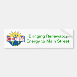 Pegatina para el parachoques solar de la tienda de pegatina para auto