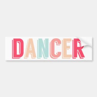Pegatina para el parachoques soñadora del bailarín pegatina para auto