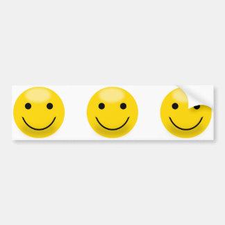 Pegatina para el parachoques sonriente amarilla de pegatina para auto