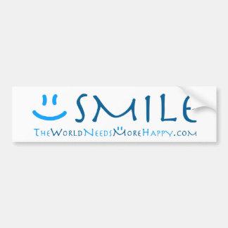 Pegatina para el parachoques Sonrisa-azul Etiqueta De Parachoque