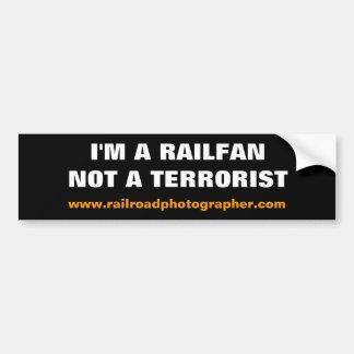Pegatina para el parachoques - soy un Railfan Pegatina Para Auto