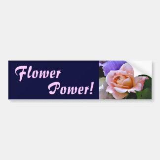 Pegatina para el parachoques subió flower power EA Etiqueta De Parachoque