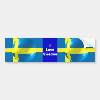 Pegatina para el parachoques sueca de Suecia del a Pegatina De Parachoque