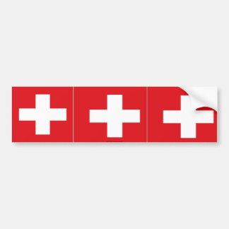 Pegatina para el parachoques suiza de la bandera d pegatina para auto