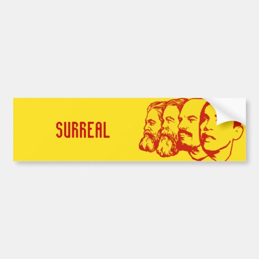 Pegatina para el parachoques SURREALISTA Etiqueta De Parachoque