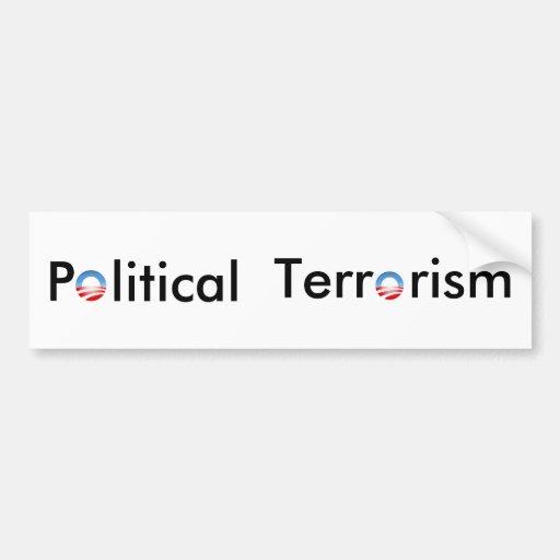 Pegatina para el parachoques - terrorismo político etiqueta de parachoque
