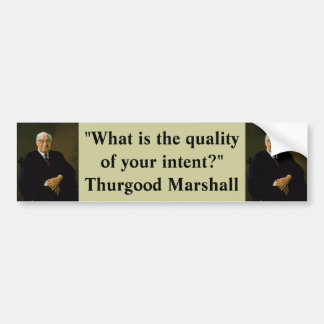 Pegatina para el parachoques: Thurgood Marshall Pegatina Para Auto
