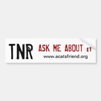 Pegatina para el parachoques:  TNR Pegatina Para Auto