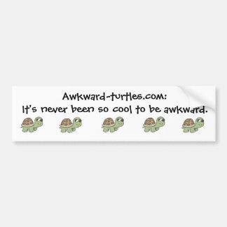 Pegatina para el parachoques torpe de las tortugas pegatina de parachoque