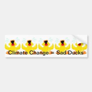 Pegatina para el parachoques triste de los patos etiqueta de parachoque
