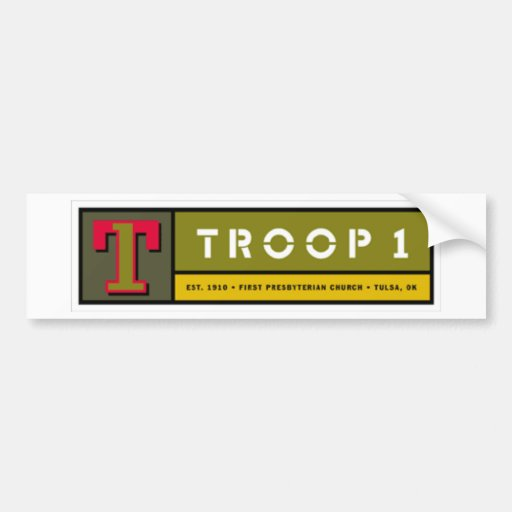 Pegatina para el parachoques Troop1 Pegatina Para Auto