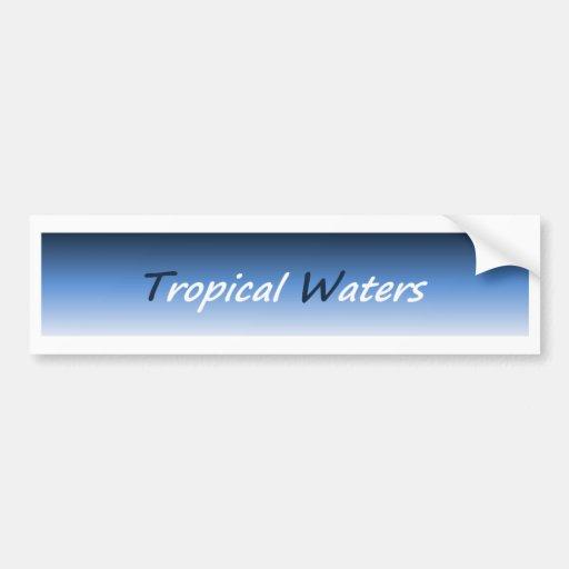 Pegatina para el parachoques tropical 01 de las ag pegatina para auto