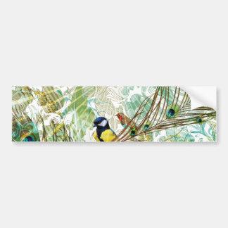 Pegatina para el parachoques tropical del paisaje  pegatina para auto