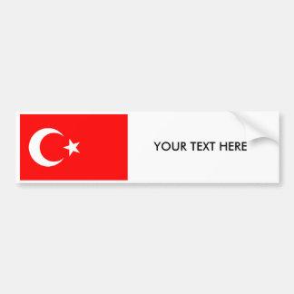 Pegatina para el parachoques turca de la BANDERA Pegatina Para Auto