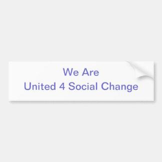 Pegatina para el parachoques unida del cambio soci