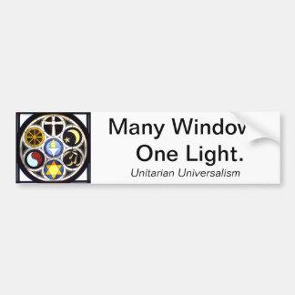 Pegatina para el parachoques universalista unitari etiqueta de parachoque