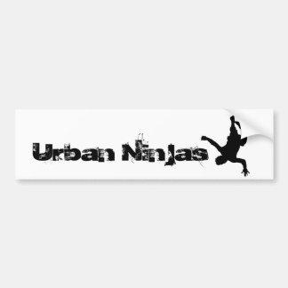 Pegatina para el parachoques urbana de Ninjas Etiqueta De Parachoque