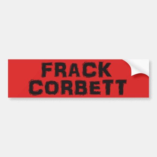Pegatina para el parachoques v.2 de Frack Corbett Pegatina De Parachoque