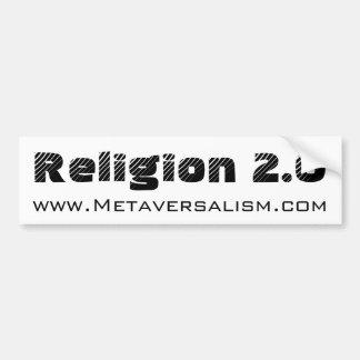 Pegatina para el parachoques v.2 de la religión 2, pegatina de parachoque