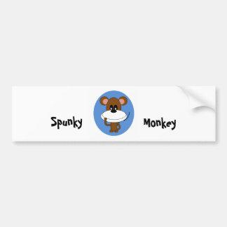 Pegatina para el parachoques valiente del mono pegatina para auto