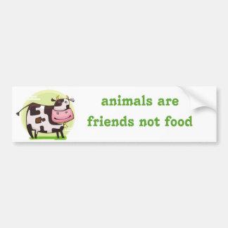 pegatina para el parachoques vegetariana del vegan etiqueta de parachoque