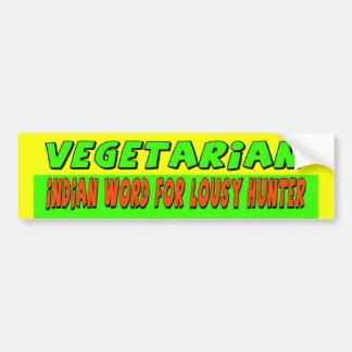 Pegatina para el parachoques vegetariana pegatina para auto