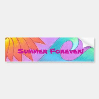 ¡Pegatina para el parachoques - verano para siempr Pegatina Para Auto