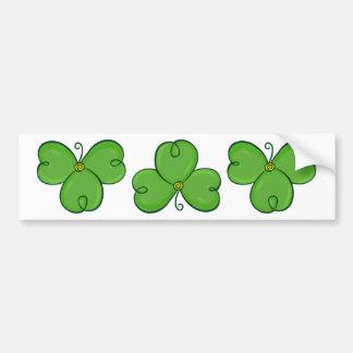 Pegatina para el parachoques verde afortunada del pegatina de parachoque