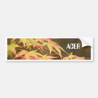Pegatina para el parachoques verde de Acer Pegatina Para Auto