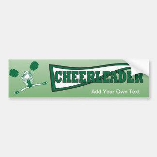 Pegatina para el parachoques verde de la animadora pegatina para coche