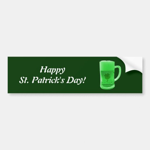 Pegatina para el parachoques verde de la cerveza pegatina para auto