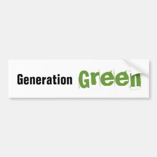 Pegatina para el parachoques verde de la generació pegatina de parachoque