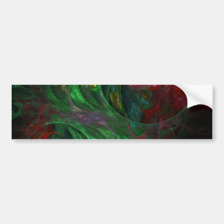 Pegatina para el parachoques verde del arte abstra etiqueta de parachoque