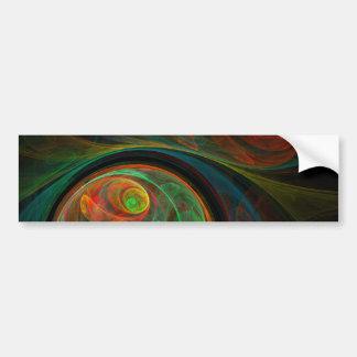 Pegatina para el parachoques verde del arte abstra pegatina para auto