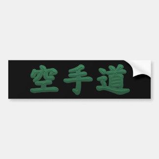 Pegatina para el parachoques verde del karate pegatina para auto