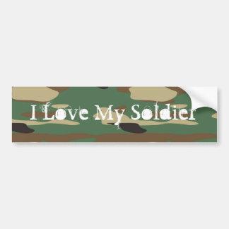 Pegatina para el parachoques verde del soldado del pegatina para auto