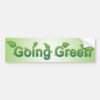 Pegatina para el parachoques verde que va pegatina para auto