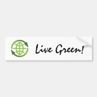 Pegatina para el parachoques: Verde vivo - recicla Pegatina Para Auto