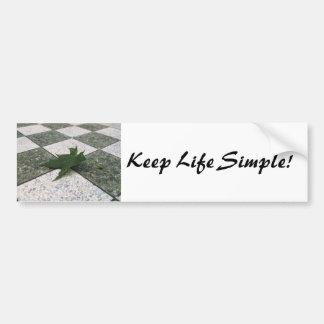 Pegatina para el parachoques: Vida simple Pegatina Para Auto