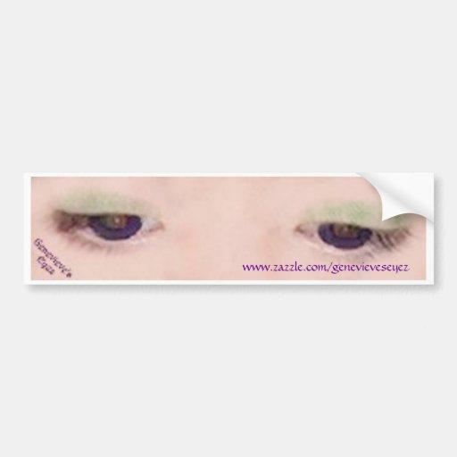 Pegatina para el parachoques violeta etiqueta de parachoque