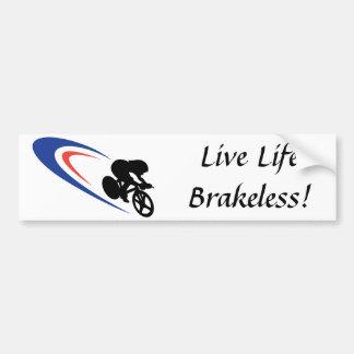 Pegatina para el parachoques viva de Brakeless de  Pegatina De Parachoque
