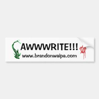 ¡PEGATINA PARA EL PARACHOQUES - WEB SITE - AWWWRIT ETIQUETA DE PARACHOQUE