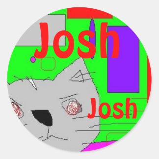 pegatina para JOSH del nombre