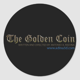 """pegatina para """"la moneda de oro """""""